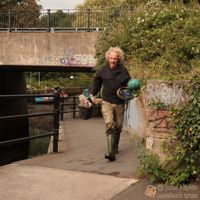 Phil Ogg on riverside walkway