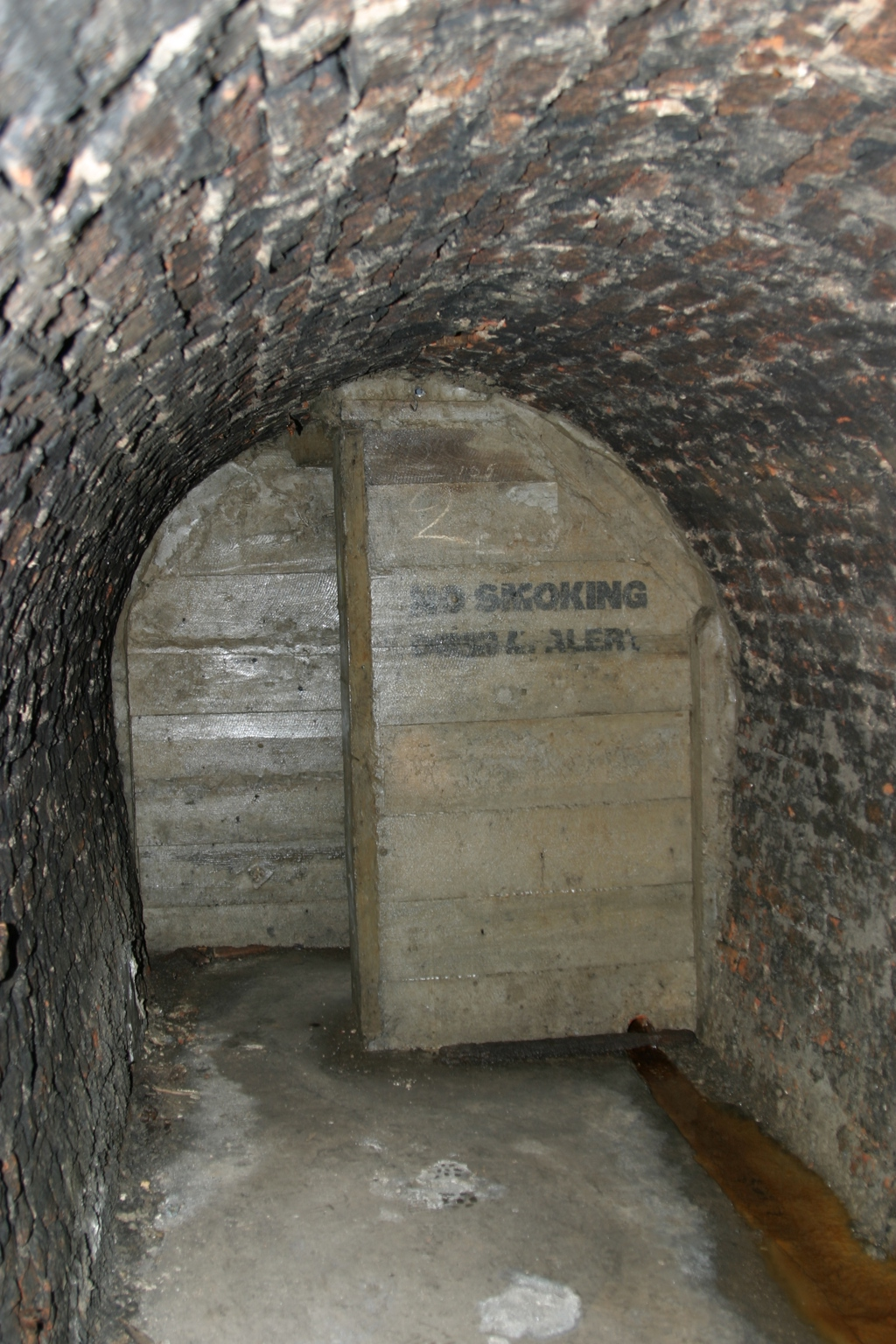 Victoria Tunnel blast walls