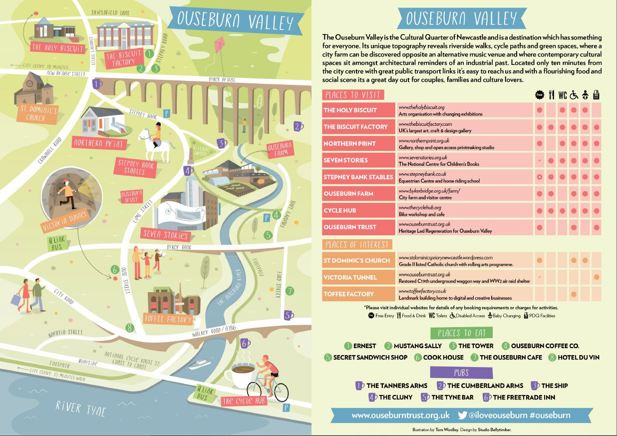 Map of Ouseburn visitor attractions