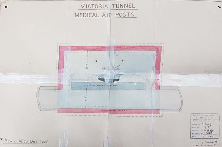 Medical posts in the Victoria Tunnel