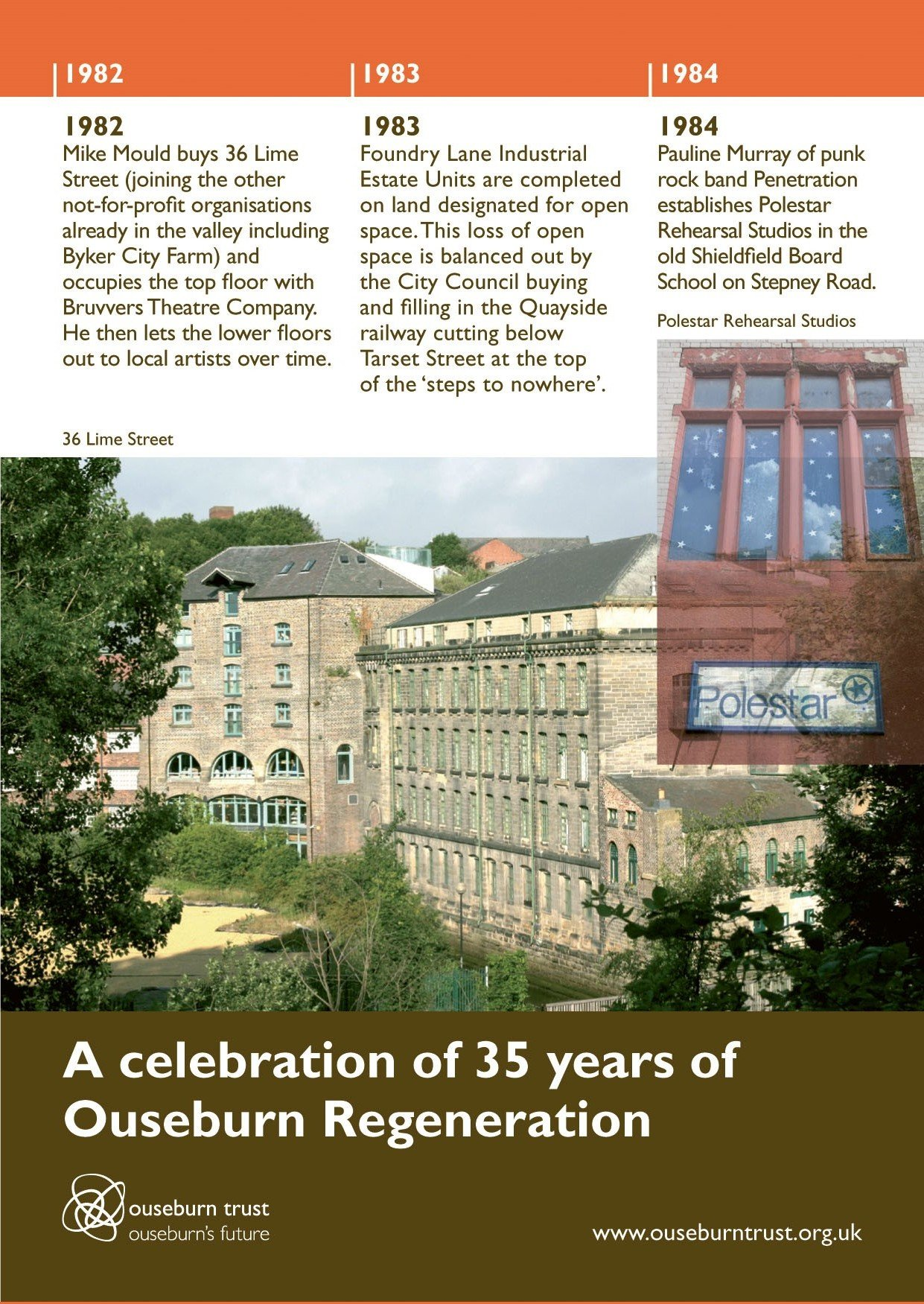 35 year Ouseburn Regeneration cover