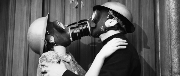 Gas Mask Kissing