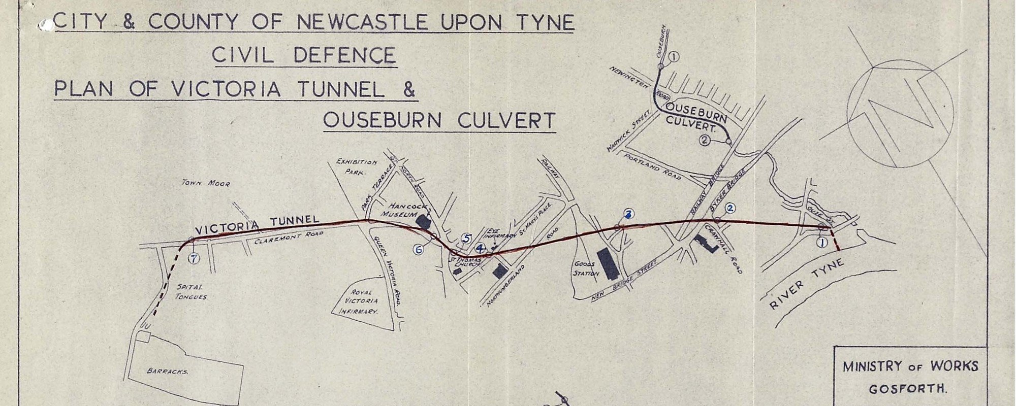 El Túnel de Victoria en Newcastle upon Tyne.