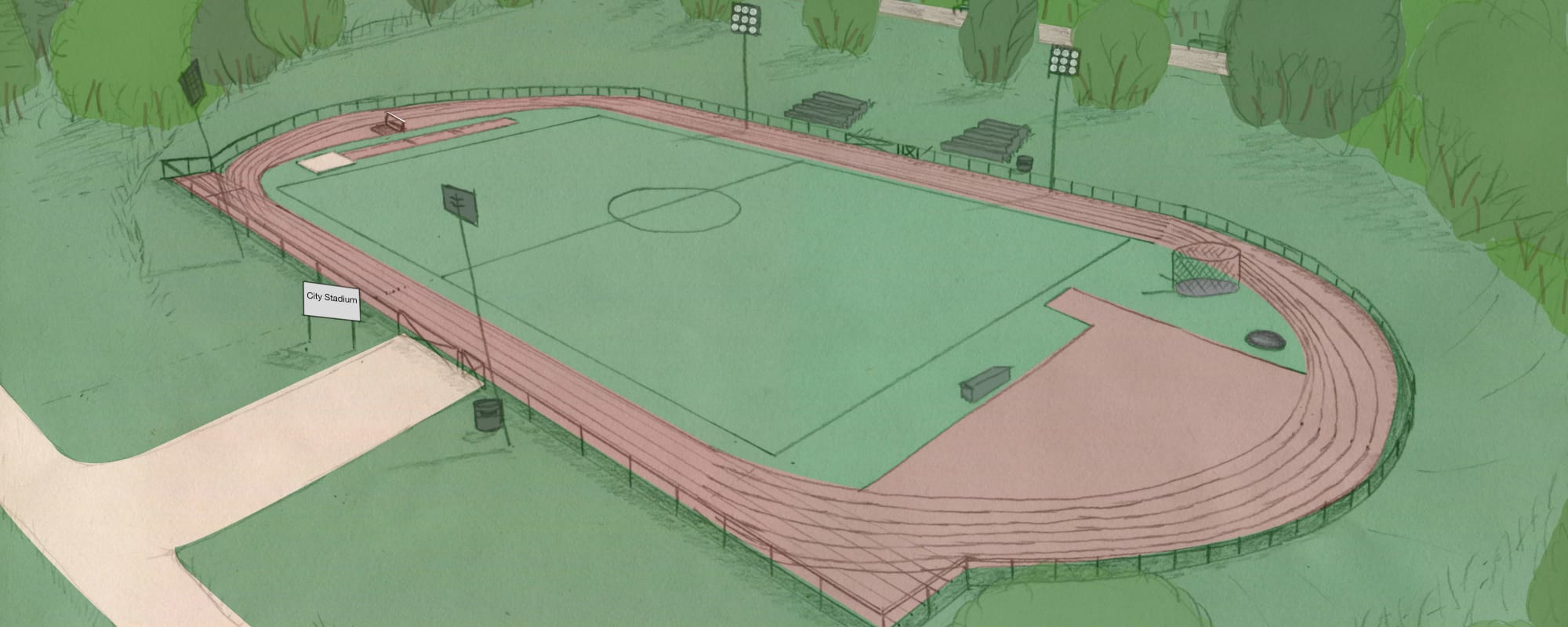 A new running track for the City Stadium