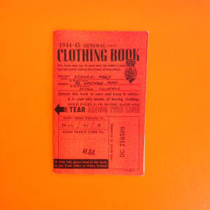 Replica clothing ration book