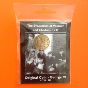 Evacuation of women and children coin pack