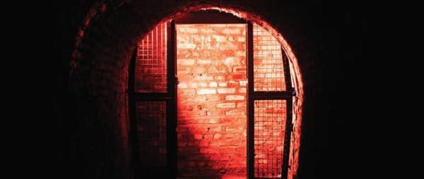 Victoria Tunnel in red light